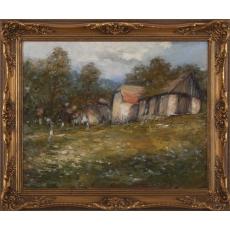 Za stodolou v záhrade