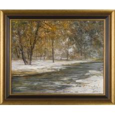 Zima pri potoku